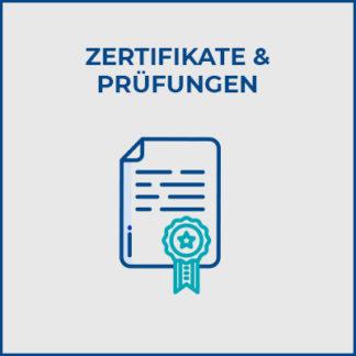 Zertifikate & Prüfungen